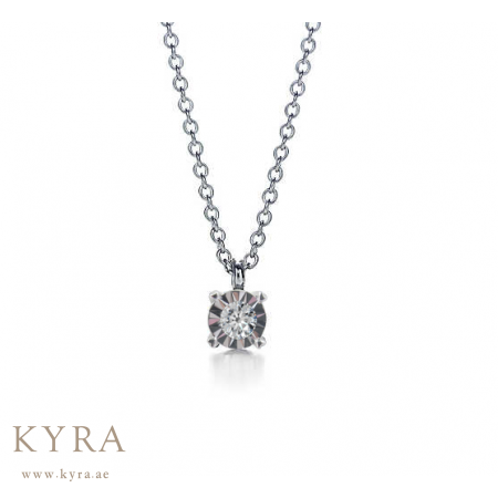 Diamond pendant with chain solitaire diamond pendant with chain aloadofball Images