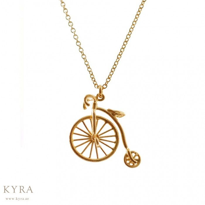 Farthing bicycle pendant in 18k yellow gold penny farthing bicycle pendant in 18k yellow gold aloadofball Gallery