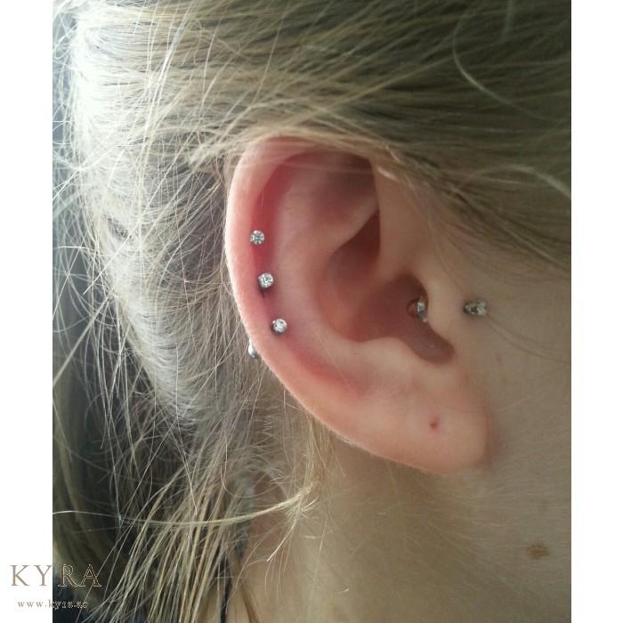 Triple Cartilage Piercings