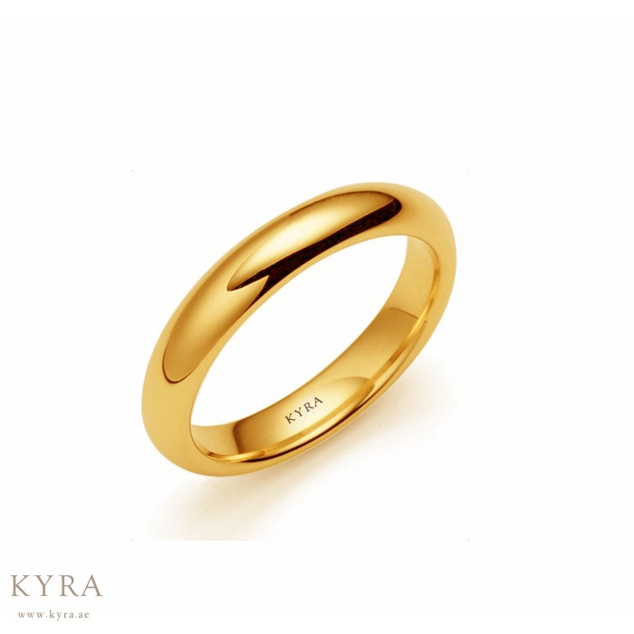Gold Classic Plain Wedding Band