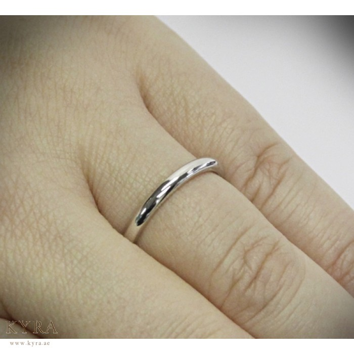 Wedding Band 2mm Wide For Her Back