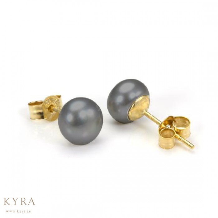 round stud gold sinya item pearl classical for in natural real pearls earring