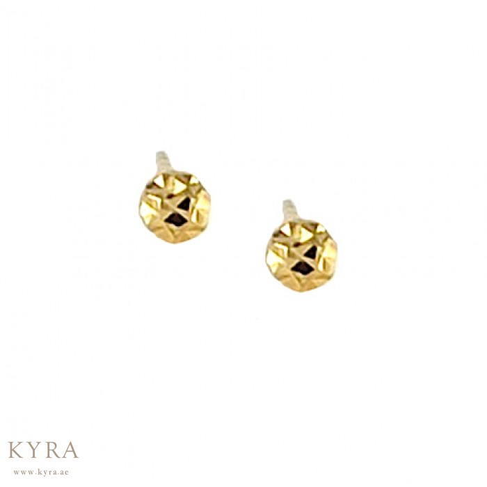 stud diamond earrings single pebble in gold with earring
