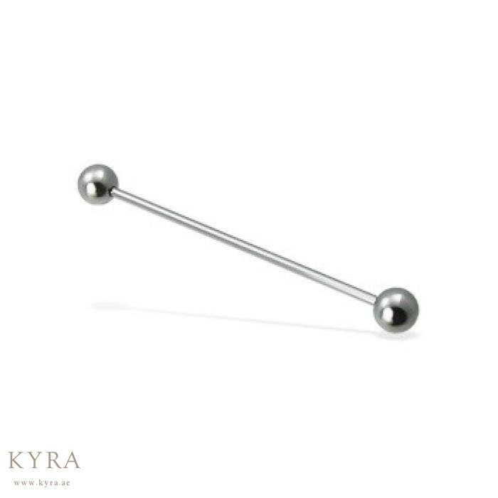 Industrial Barbell Ear Piercing In Surgical Steel