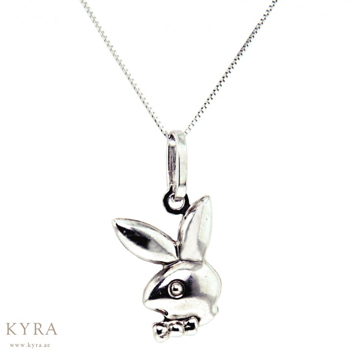 White gold bunny pendant 18k white gold bunny pendant aloadofball Choice Image