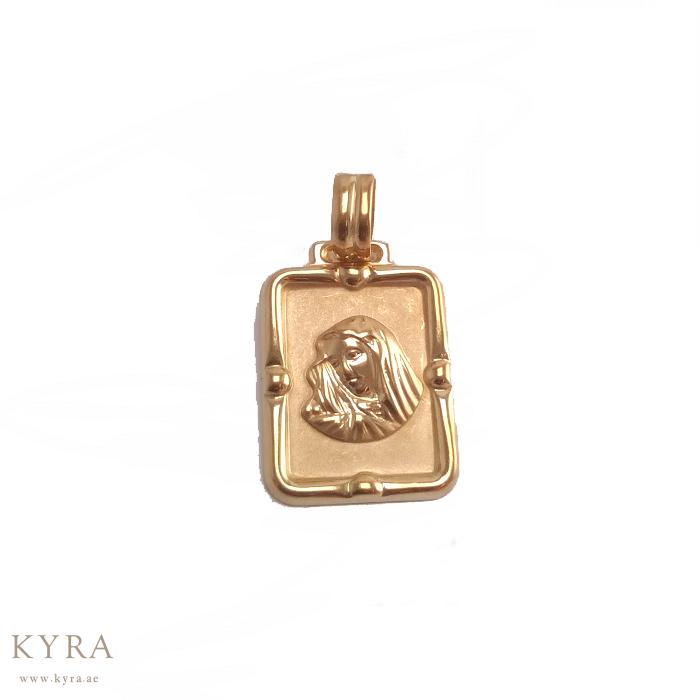 18k yellow gold mary magda 18k yellow gold mary magdalene pendant mozeypictures Choice Image