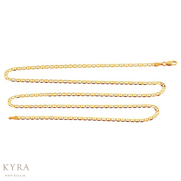 jewelry flat claw gold bracelet with solid yellow luxurman chain mariner necklace or watches clasp lobster product wide anklet