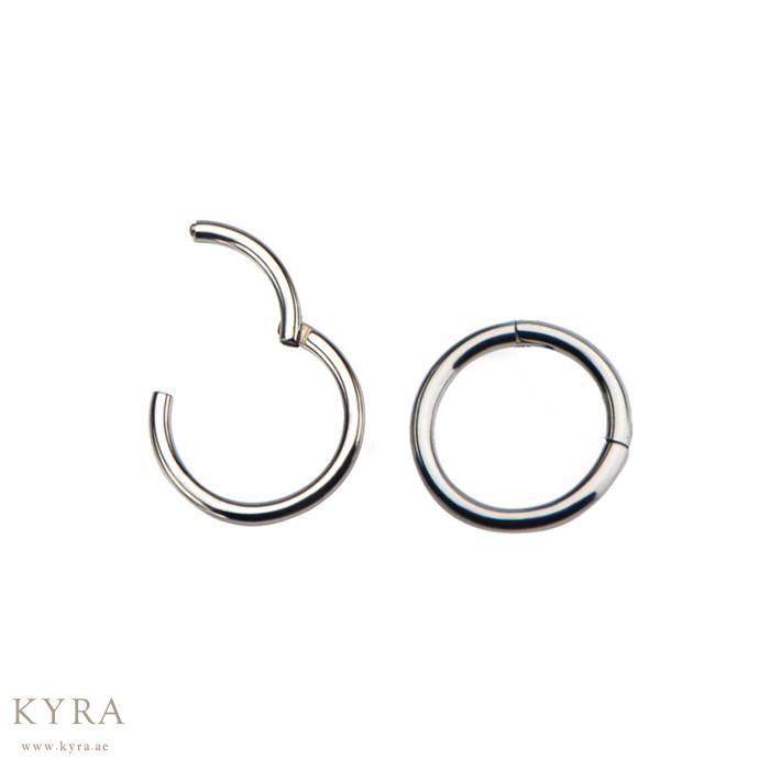 18 Gauge Implant Grade Titanium Hinged Circular Segment Ring