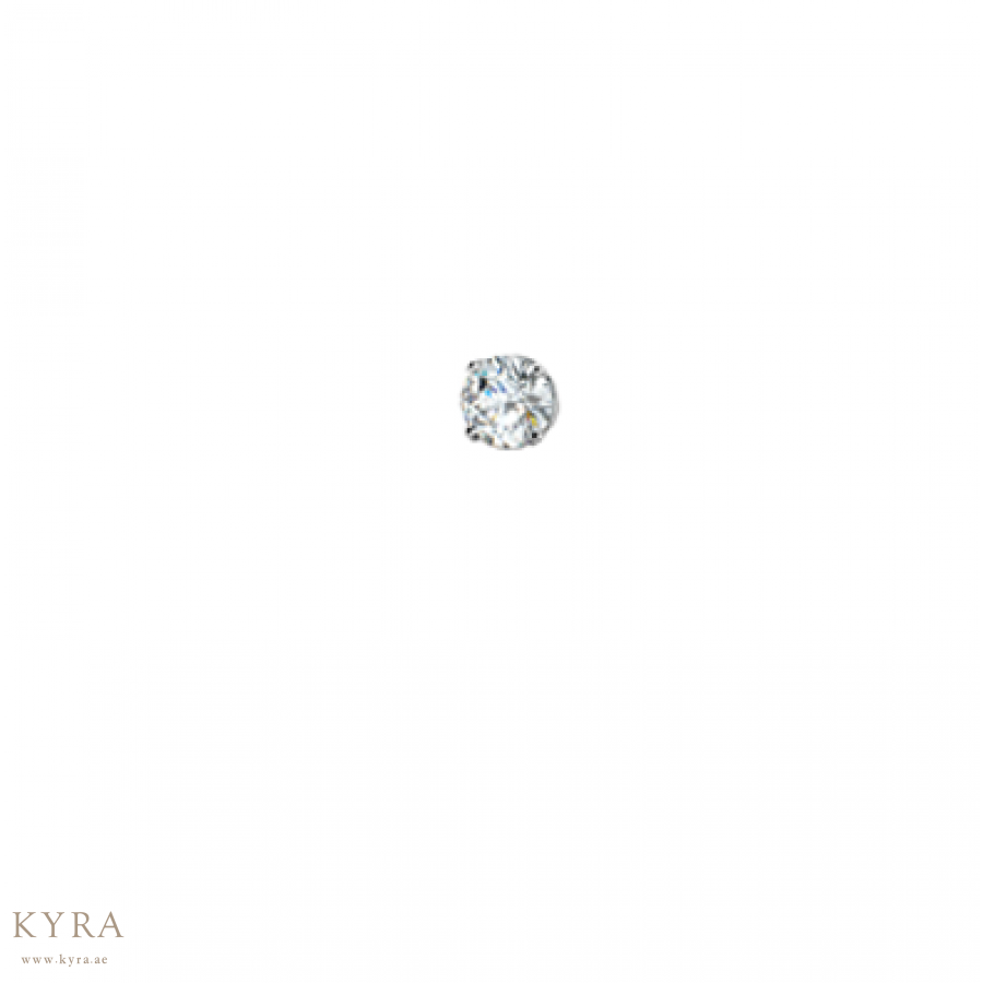 Nose Stud In 18k White Gold In 3mm Cz