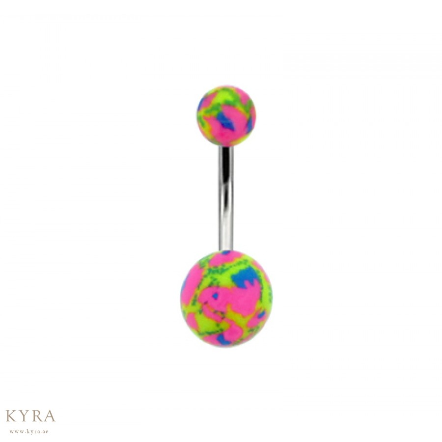 Multi Color Acrylic Belly Button Rings