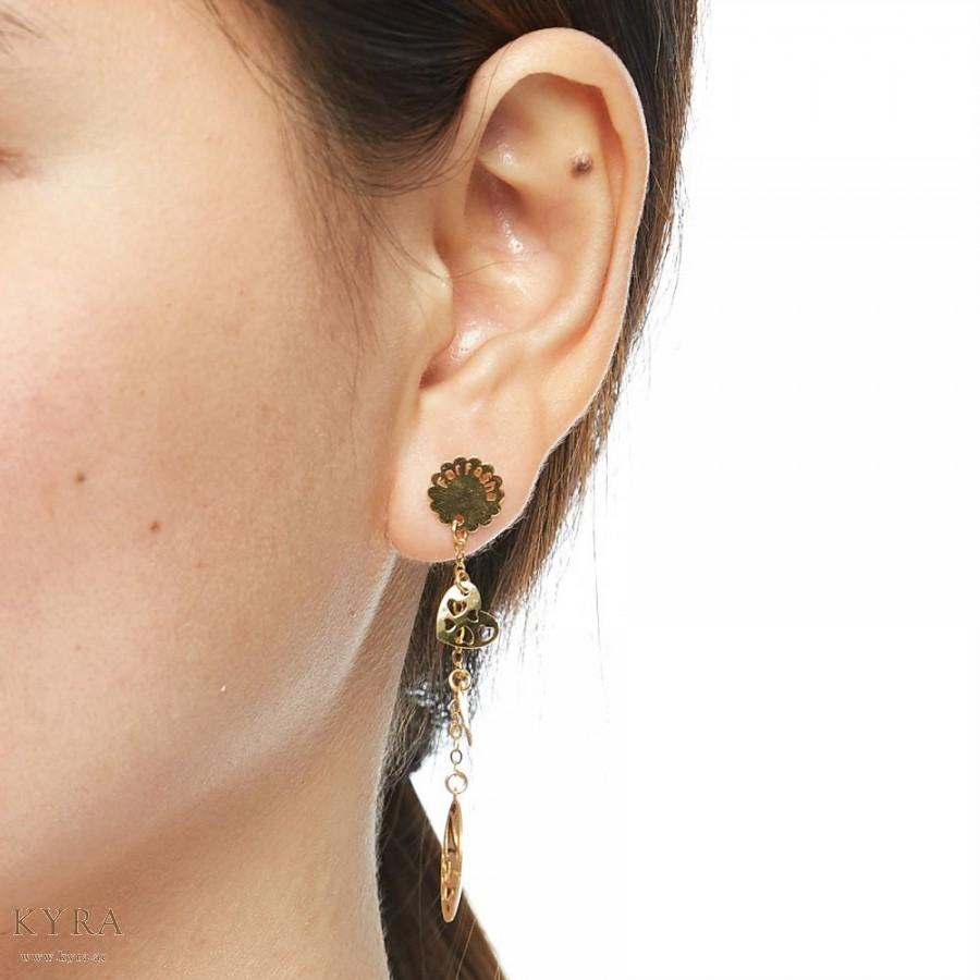 Farfasha Dangling Earring Two Tone Gold