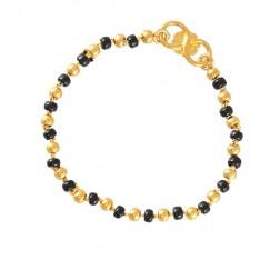 22k Yellow Gold And Block Beads Baby Bracelet