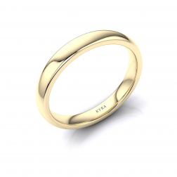 band rings plain wedding set gold in