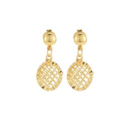 Pinele Dangling Earring 22k Yellow Gold