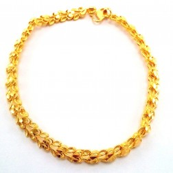D Cut Heart Bracelet In 22k Yellow Gold