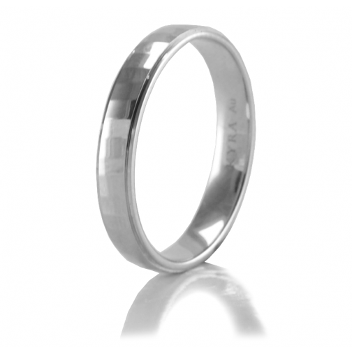 2572363d30f High Polished Hammered Wedding Band White Gold
